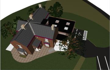 3D Piel view house